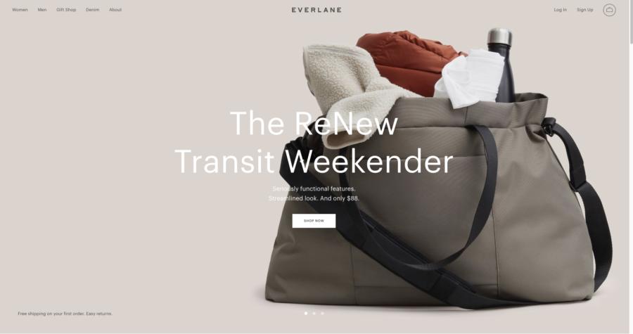 Everlane website